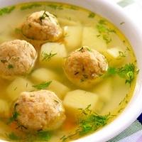 рецепты первых блюд - суп с фрикадельками